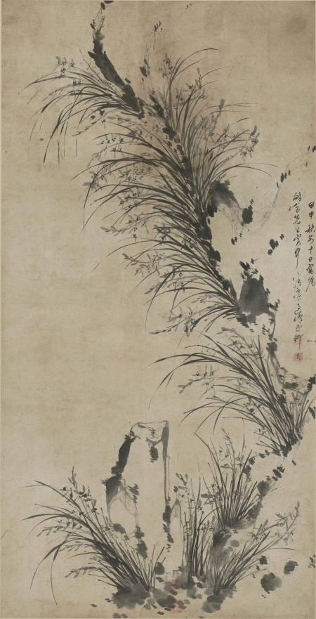 天台蘭石圖