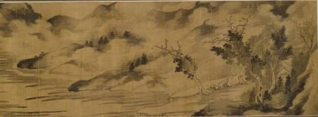 煙光雲景卷