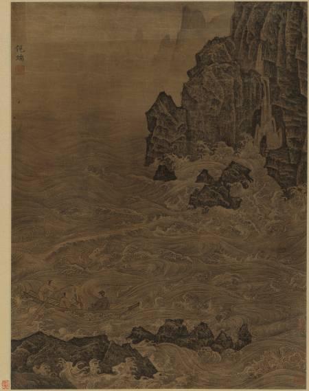 倪端《東坡赤壁圖立軸》