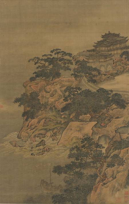 李寅《山水圖軸》